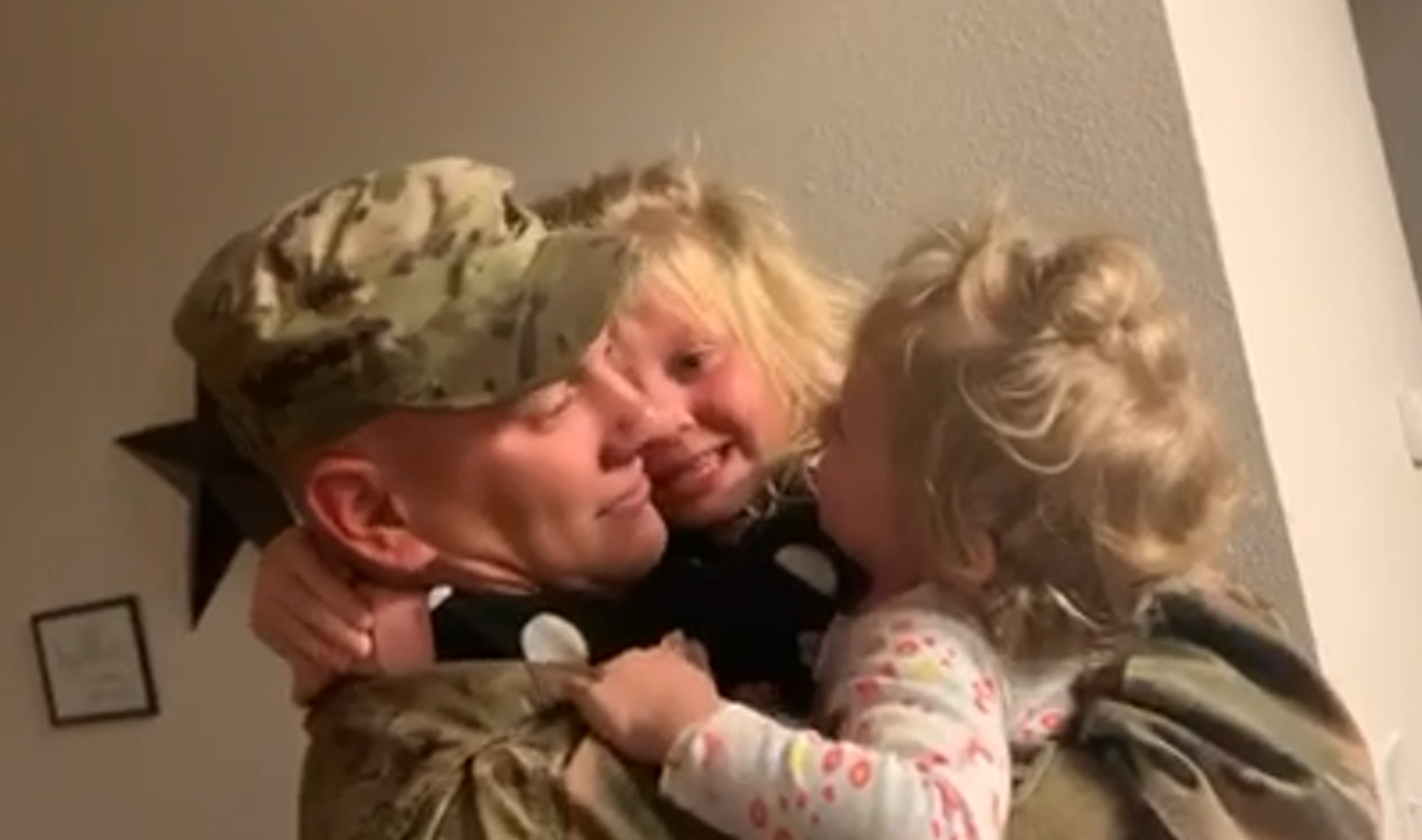 Fort Carson Soldier surprises daughters on Veteran's Day