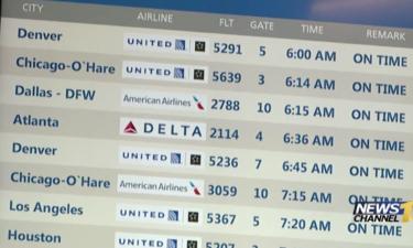 Delayed flights anticipated