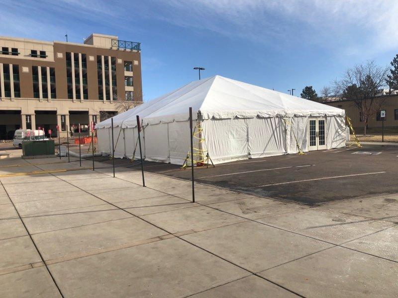 Coronavirus screening tent