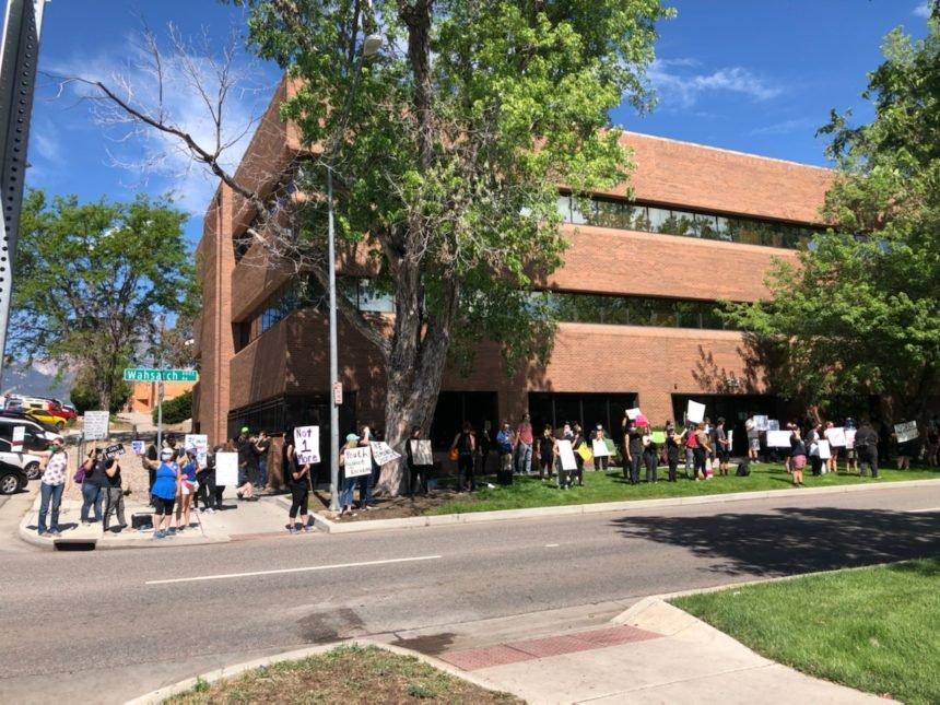 colorado springs protest sunday