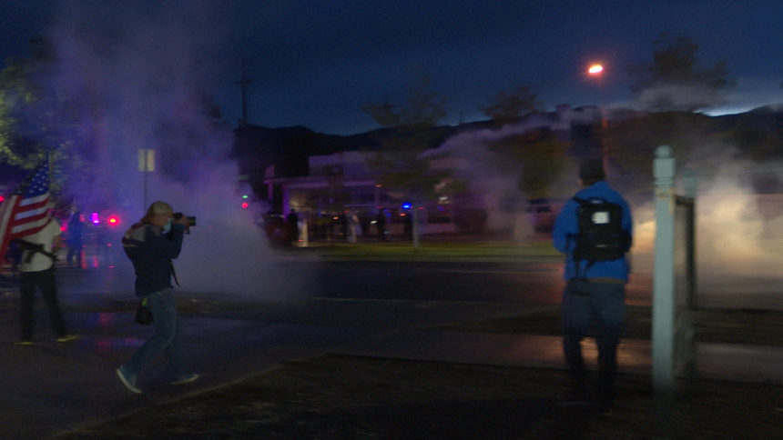 colorado springs tear gas george floyd protest