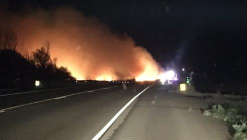 highway 50 fire