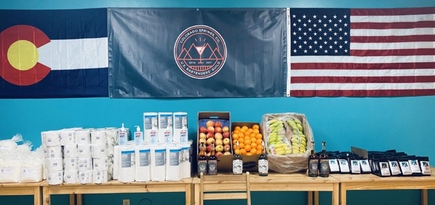 Serving the Springs, a food and supply drive for hospitality workers by the Colorado Springs Bartenders' Guild
