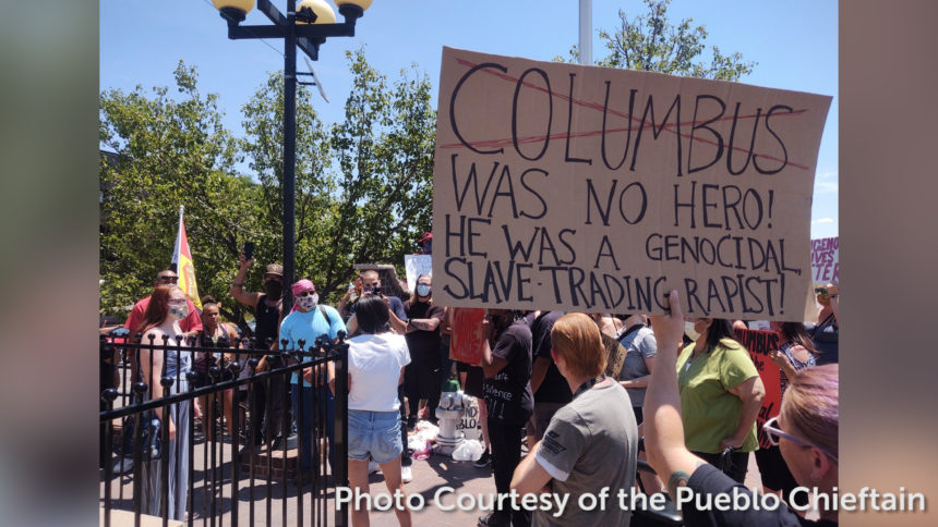 Columbus Statue Protests