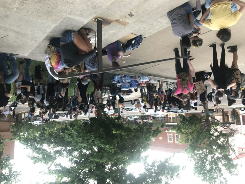 Protest continues outside City Hall in Colorado Springs