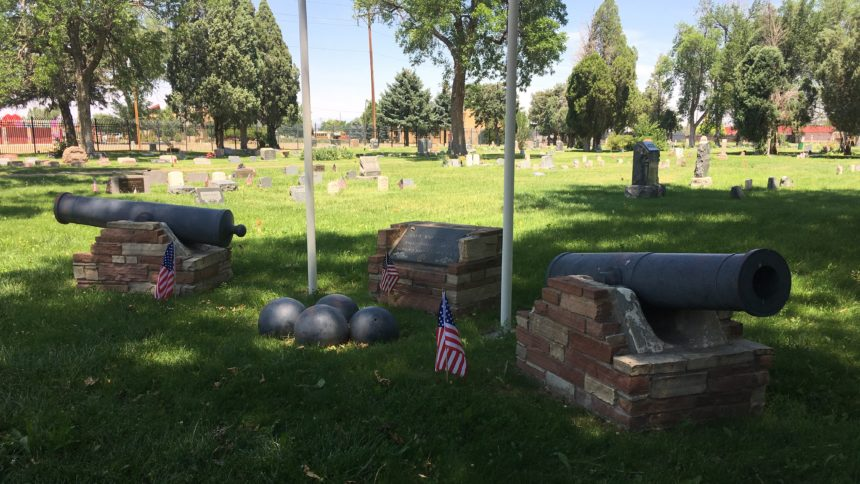Memorial for Civil War soldiers in Roselawn Cemetery, Pueblo