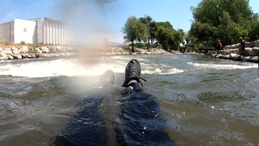 Brynn in river
