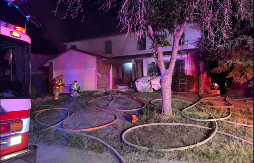 House fire on Conifer Drive in Colorado Springs