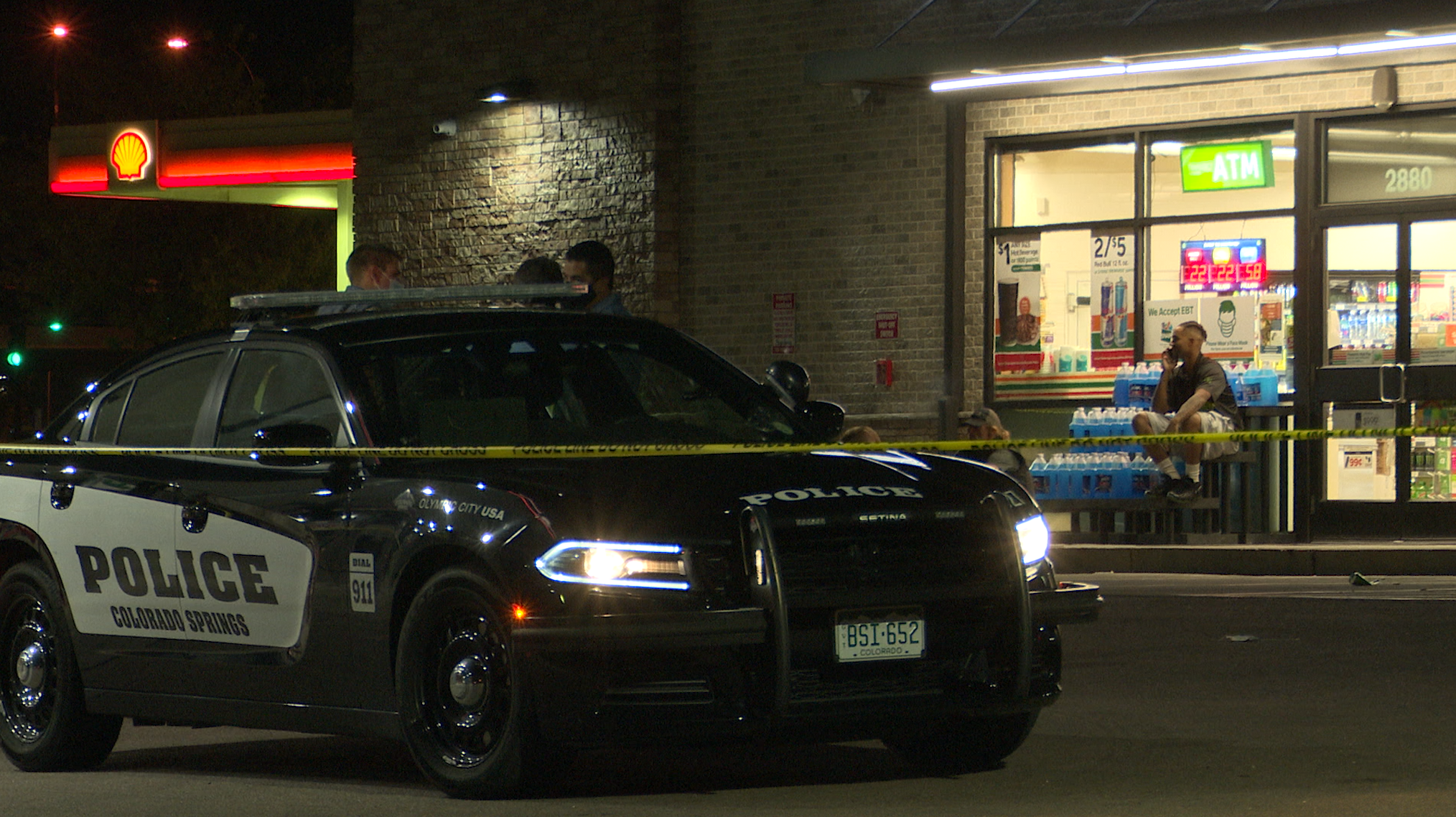 Police respond to hit and run at 7-eleven on S Circle Drive.