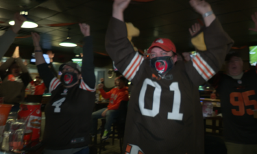 Pikes Peak Browns Backers celebrate playoff win at Old Chicago on Academy in Colorado Springs