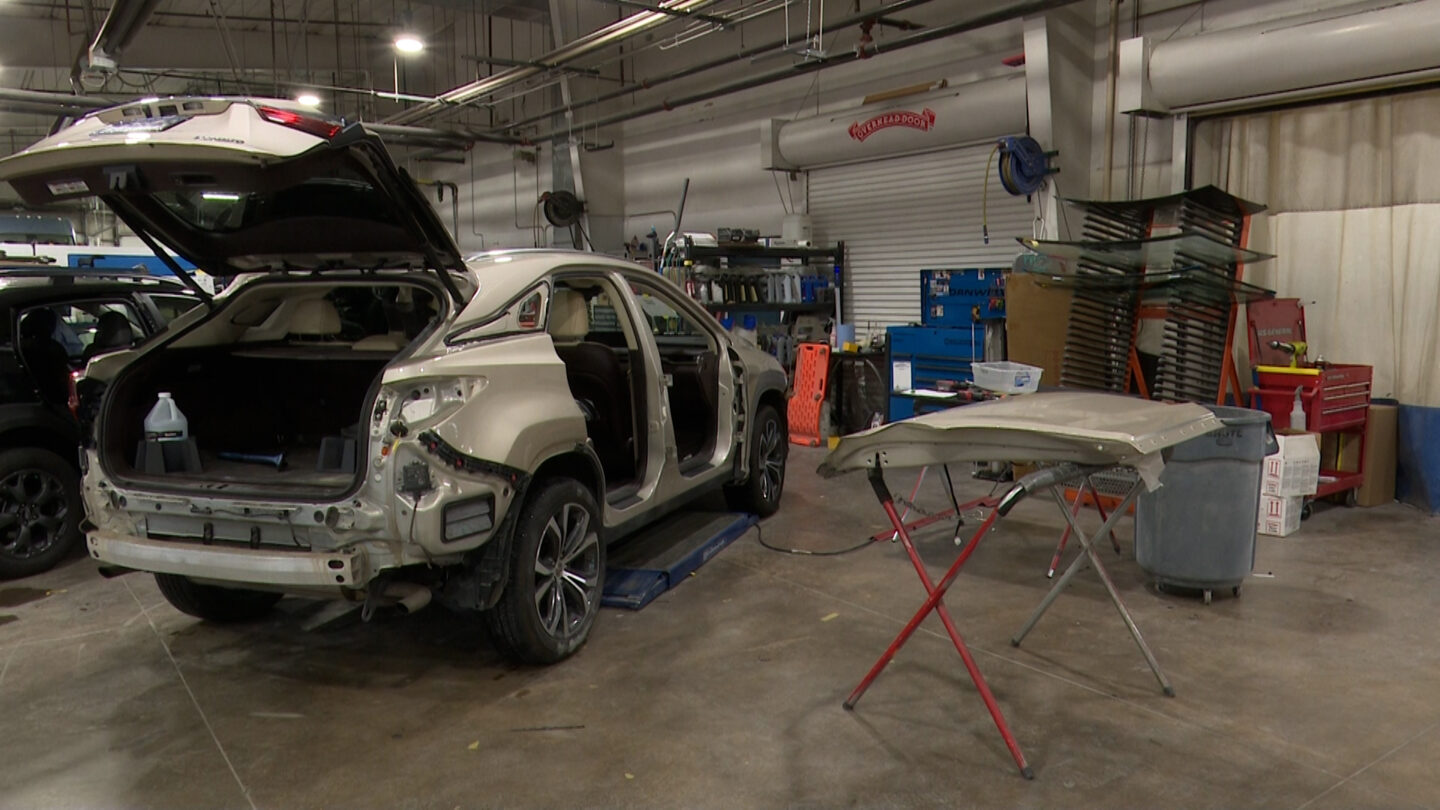 The latest winter storm brought a boost in business for local auto body shops, like Red Noland Collision Center.