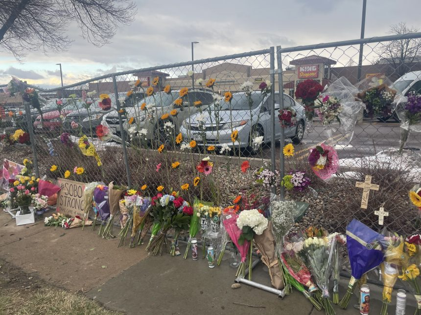 King Soopers memorial in Boulder