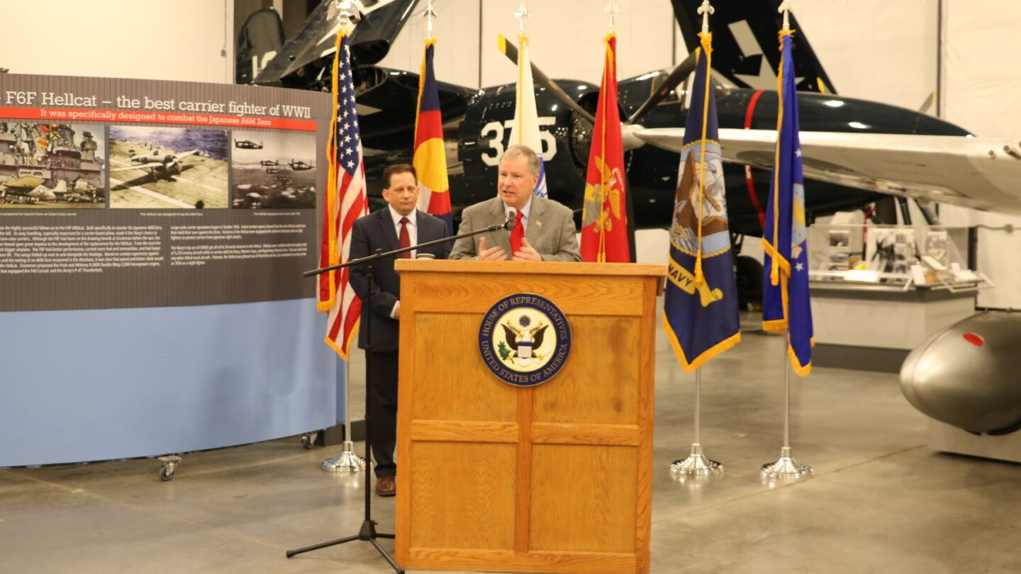 Rep. Doug Lamborn at a ceremony to announce US Service Academy recommendations in 2020.