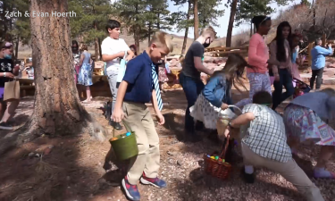 Wilson United Methodist Church Easter egg hunt at Flying W Ranch in Colorado Springs
