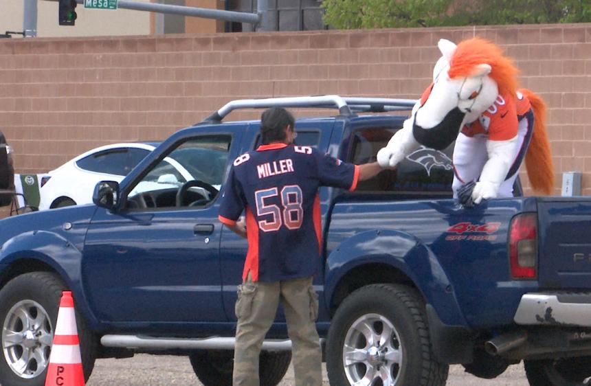 Denver broncos visit state fairgrounds