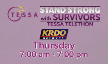 STAND STRONG with Survivors TESSA telethon Thursday, May 13th.