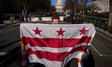 Residents of the District of Columbia rally for statehood near the U.S. Capitol on March 22 in Washington