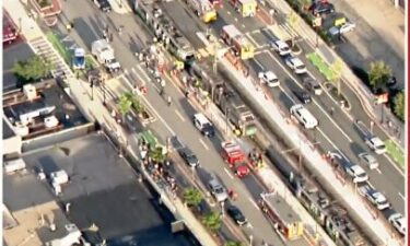 Several people are being treated for injuries after a collision involving two Green Line trains in Boston.
