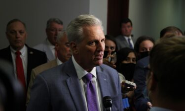 Minority Leader Kevin McCarthy retracted his selections to the key select committee on the economy because he was still upset that House Speaker Nancy Pelosi rejected two of his picks for a much more contentious select committee: the one investigating the January 6 riot. McCarthy is shown speaking to members of the press as he arrives at a House Republican Conference meeting at the U.S. Capitol July 28