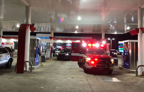 Houston Fire paramedics were taking a hit-and-run victim to the hospital when they were blocked.