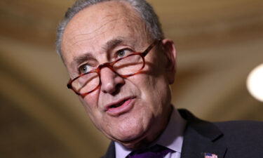 Senate Majority Leader Charles Schumer (D-NY) speaks to reporters following a Senate Democratic luncheon at the U.S. Capitol on June 15. Lawmakers have yet to clinch a bipartisan infrastructure deal as of July 26.