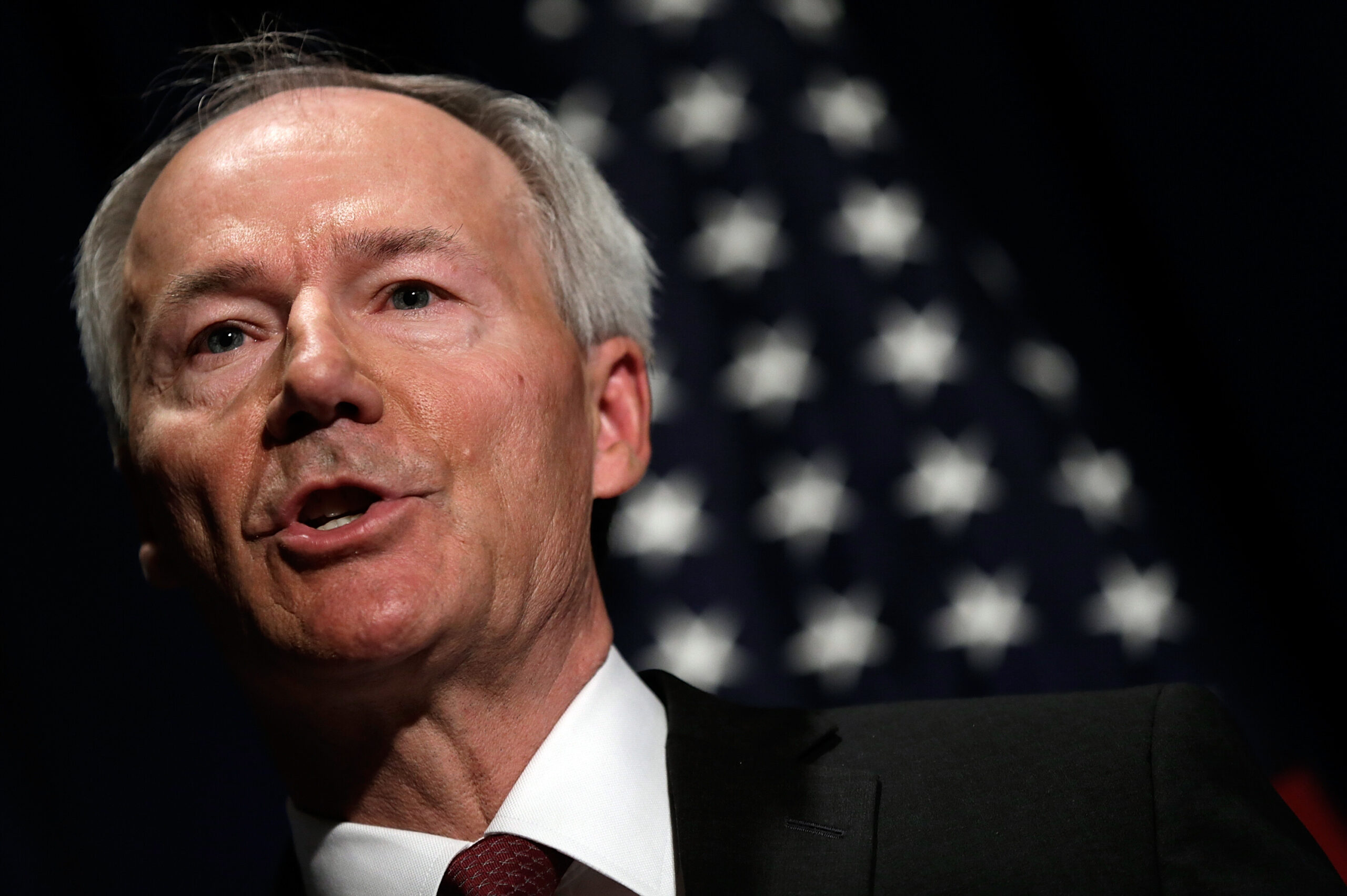 <i>Win McNamee/Getty</i><br/>Arkansas Republican Gov. Asa Hutchinson said August 4 he regrets approving a statewide ban on face mask mandates earlier this year and has called the state Legislature into a special session in an effort to amend the law.