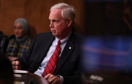 U.S. Sen. Ron Johnson (R-WI) listens during a hearing on consideration of statehood for the District of Columbia in the Senate Homeland Security and Governmental Affairs Committee on June 22
