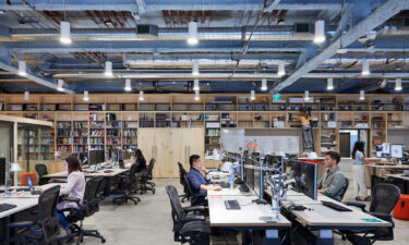 Workers at the Minneapolis offices of architecture and interior design firm Perkins&Will don't have assigned desks.
