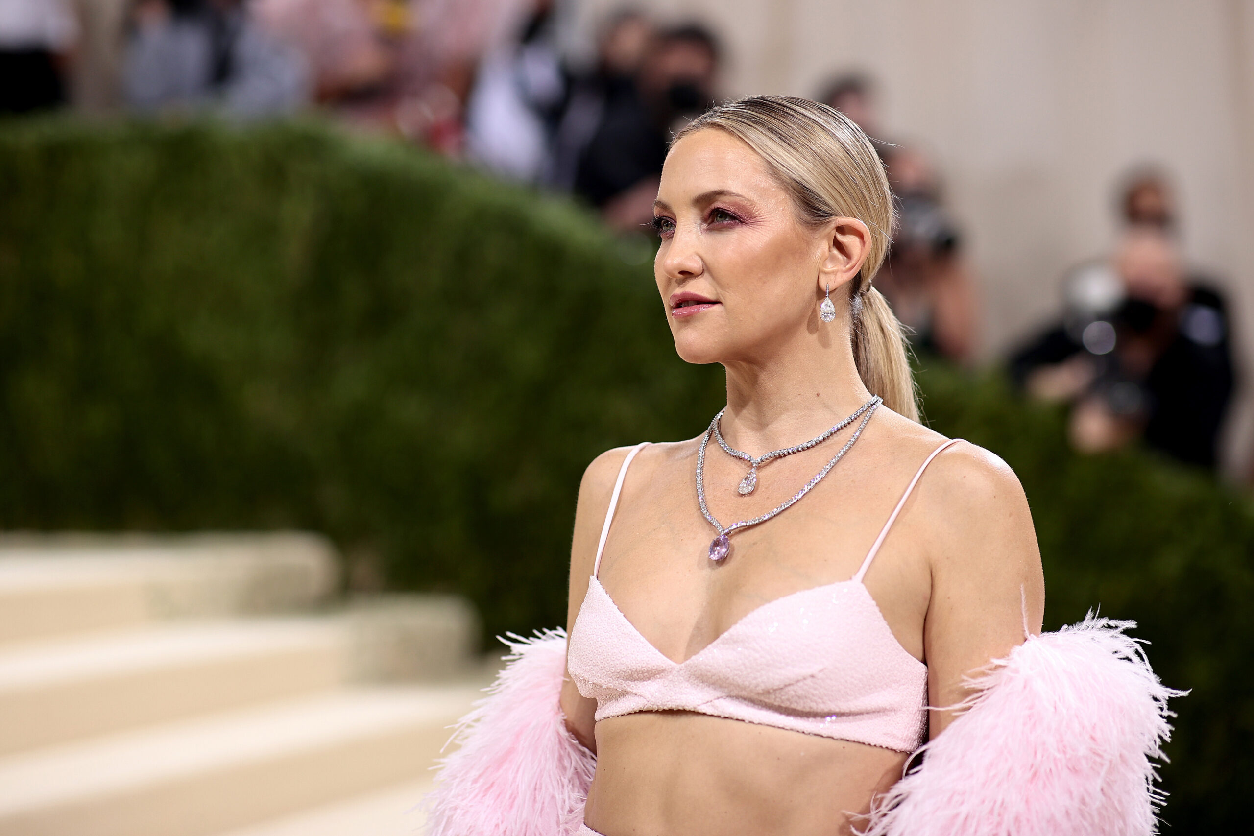 <i>Dimitrios Kambouris/Getty Images</i><br/>Kate Hudson is engaged to long-term boyfriend Danny Fujikawa. Hudson here attends the 2021 Met Gala in New York City