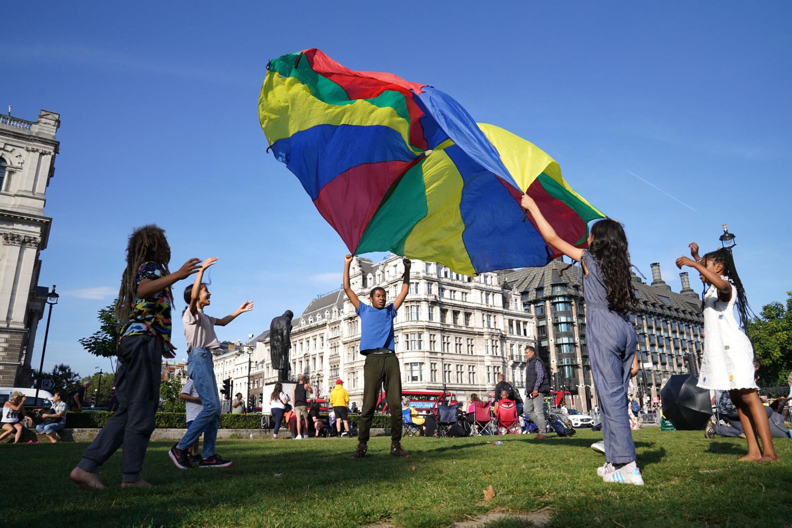 <i>Stefan Rousseau/PA Images/Getty Images</i><br/>Children to gather at Parliament Square in London in early September to read their Letters to the Earth