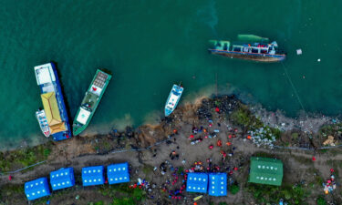 In this photo released by Xinhua News Agency