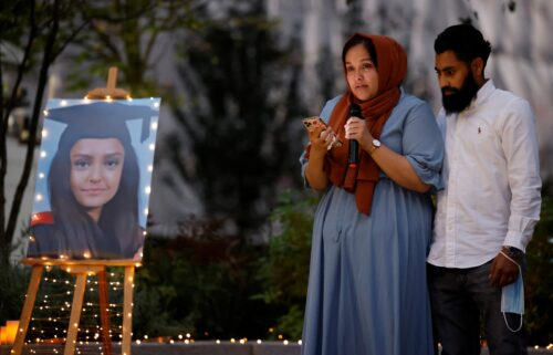 Sabina Nessa's sister pays tribute to her during a candlelight vigil in Kidbrooke on September 24.