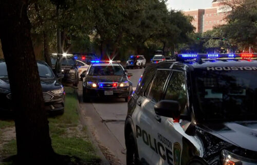 Police are responding to reports of two officers shot in Houston.