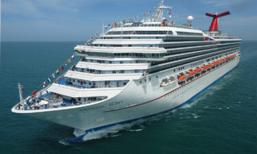 The Carnival Glory cruise ship will house essential workers to help with Hurricane Ida recovery efforts. In this image