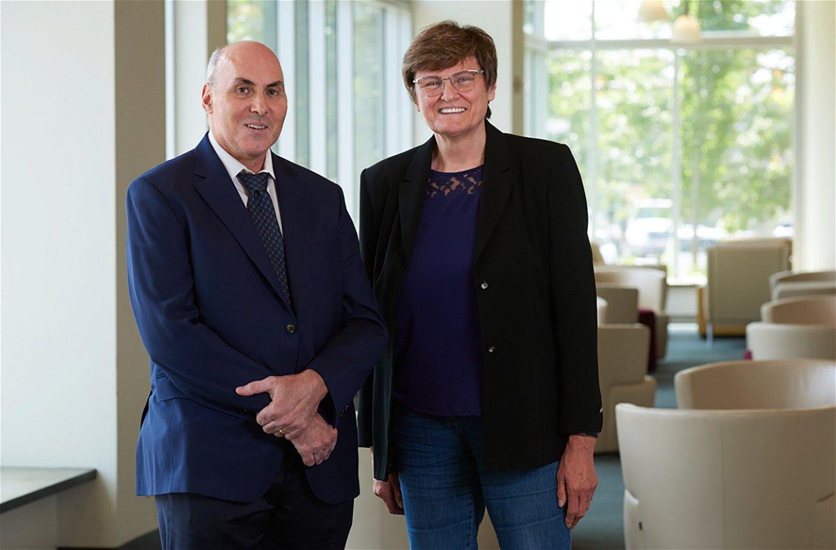 <i>Courtesy Penn Medicine</i><br/>Dr. Drew Weissman and Katalin Karikó of the University of Pennsylvania