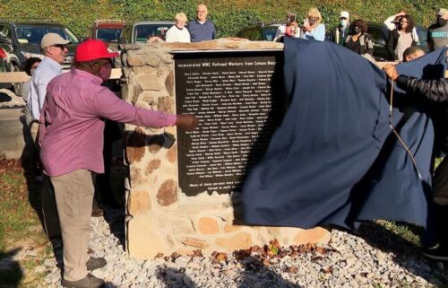A new memorial can be found at the site of Old Fort's Andrews Geyser