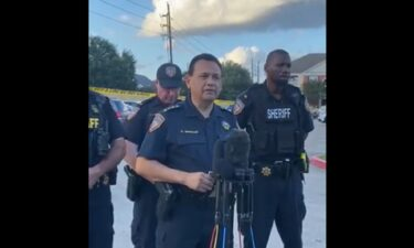 Harris County Sheriff Ed Gonzalez addresses the media after three children were abandoned with the decaying body of another child inside an apartment in Houston.
