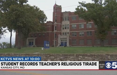 A teacher at Lincoln College Preparatory Academy High School has been placed on leave because of some controversial comments he made in class. Students report the 10th grade English teacher was preaching about Christianity