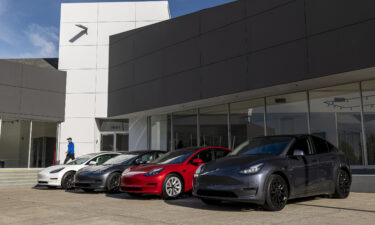 Tesla just became the sixth company in US history to be worth $1 trillion. Vehicles at a Tesla dealership in Vallejo