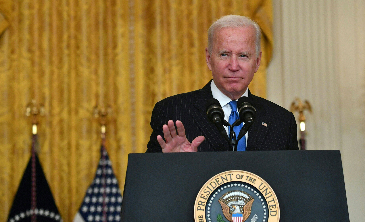 <i>Nicholas Kamm/AFP/Getty Images</i><br/>President Joe Biden