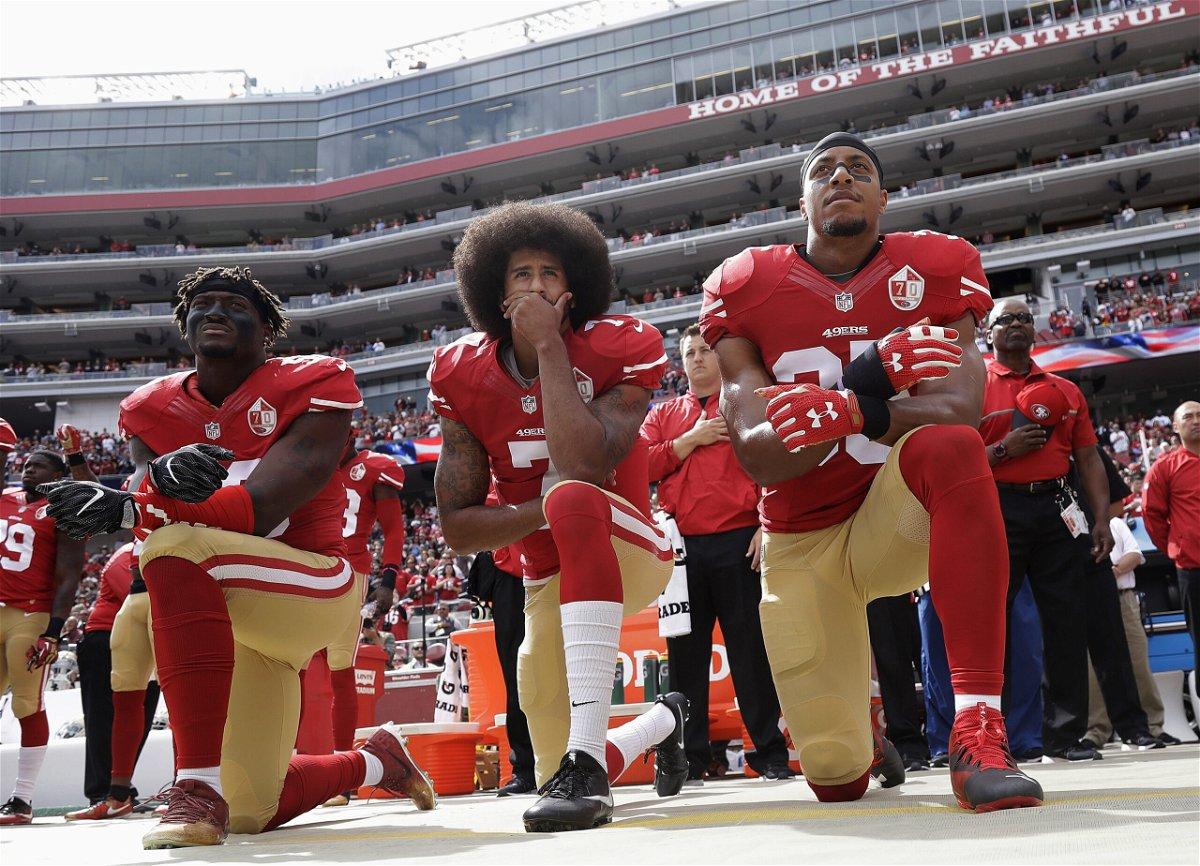 <i>Marcio Jose Sanchez/AP</i><br/>San Francisco 49ers Eli Harold