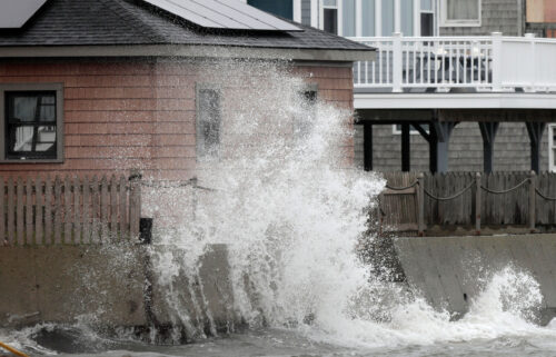 """A nor'easter that strengthened into a """"bomb cyclone"""" left hundreds of thousands without electricity in New England on October 27."""